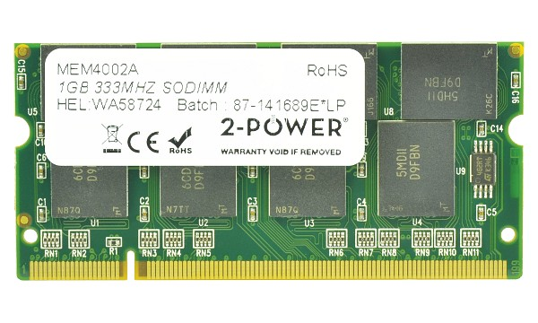Satellite M30-941 1GB PC2700 333MHz SODIMM