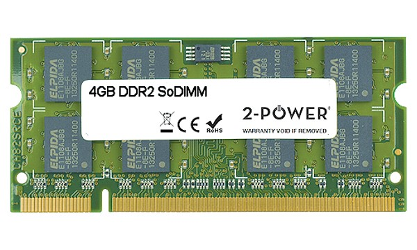Satellite P300D-14F 4GB DDR2 800MHz SoDIMM